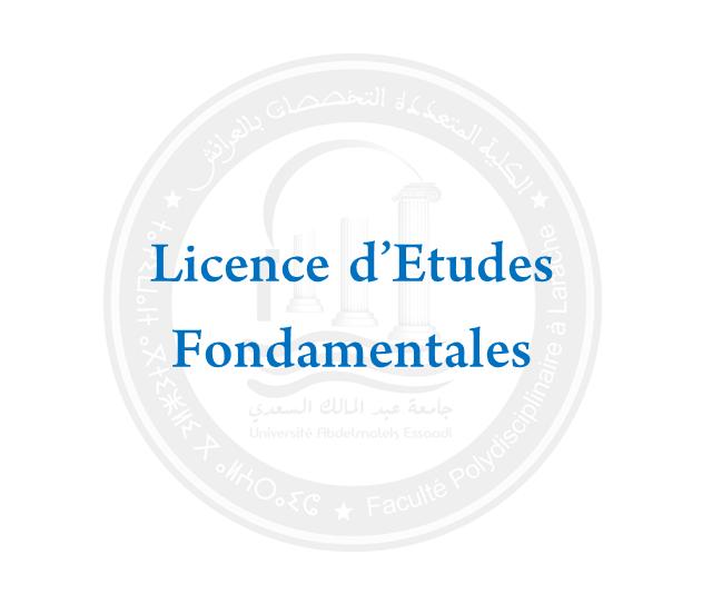 LICENCES ÉTUDES FONDAMENTALES