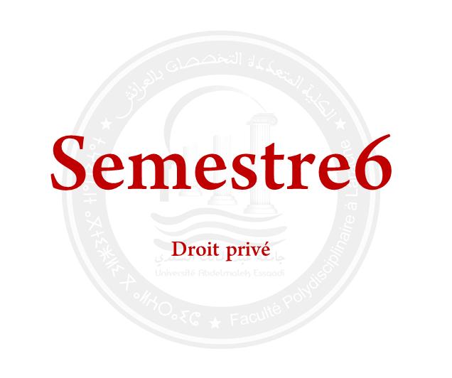 SEMESTRE 6: DROIT PRIVÉ